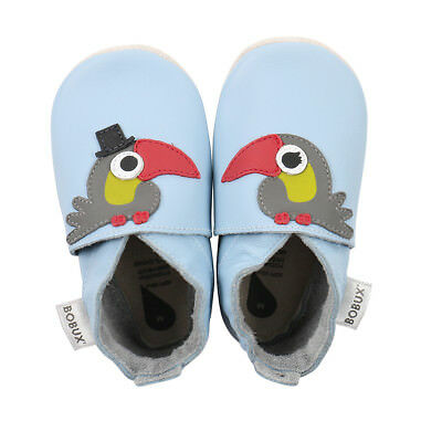 Bobux babyslofjes light blue toucan