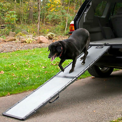 Dog Ramp For Truck >> Dog Ramp Folding Portable Long Pet Doggie Stairs Truck Suv Travel
