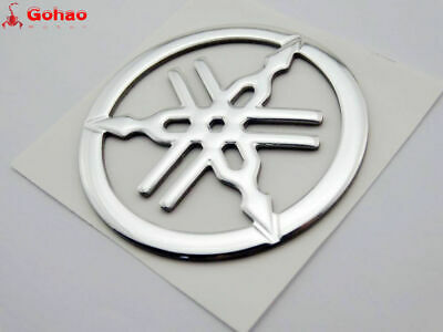 Tank Fairing Tuning Fork Emblem Badge Decal for Yamaha Racing Motorcycle Dia.5cm