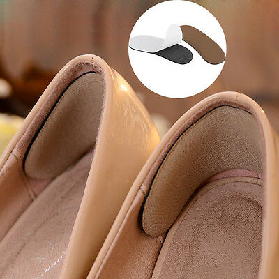 10 Pair Silicone Heel Shoe Pads Inserts Insoles Liner Gel Cushion Shoe Grips UK
