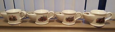 Set of 4 Wade Vintage Steam Vehicles Shaving Mugs/Scuttles