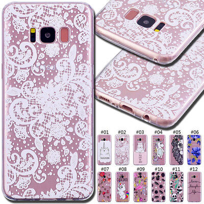 For Samsung Painted Gel Skin TPU Silicone Rubber Protective Soft Back Case Cover