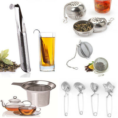 Stainless Steel Loose Tea Infusers Ball Strainer Sphere Filter Spice Diffuser