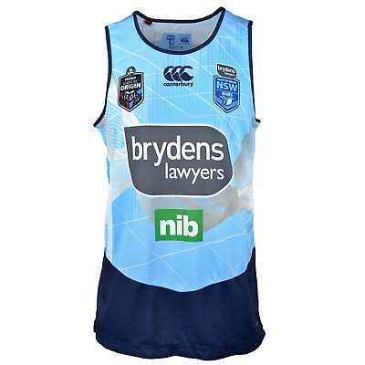 Canterbury New South Wales State of Origin 2018 Training Singlet - Blue