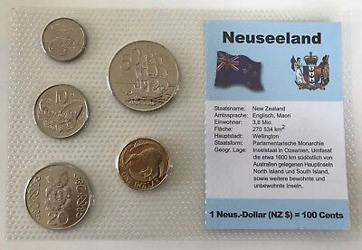 2004 NZ/German tourist set with MULE 10c/$1 error coin and 2005 50c error coin