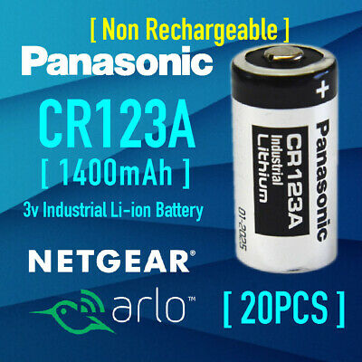 20xPanasonic 3V CR123A Li-ion Battery CR123 DL123A EL123A F Netgear Arlo Camera