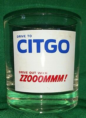 Drive To Citgo Drive Out With Zzooommm! Zoom Vintage Advertisement Fuel Glass