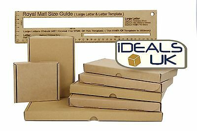 Royal Mail Large Letter Size Cardboard Postal Mailing PiP Boxes-Mini A6 DL A5 A4