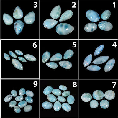 Sky Blue 100% Natural Larimar Cabochon loose gemstone AB76