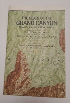 National Geographic Mag -supplement map -  grand canyon usa free post