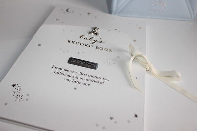 PERSONALISED BABY GIFT, My LittLe Stars Baby Record Book, ENGRAVED, BABY GIFT
