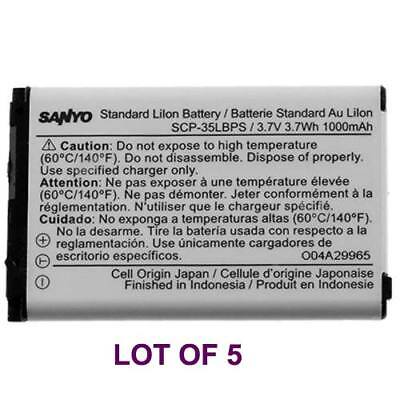 5 Sanyo SCP-35LBPS OEM Battery Lot for Kyocera SCP-3810 Mirro New