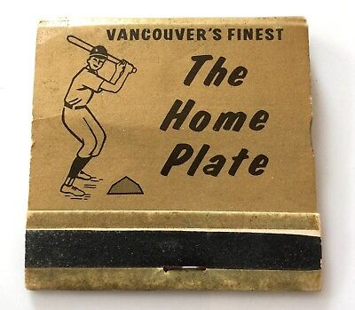 """The Home Plate Dugout Room"" Baseball Full Matchbook Vancouver, Washington"