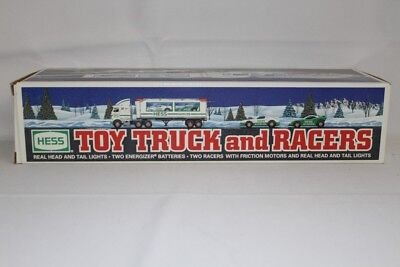 1997 Edition HESS Toy Truck and Racers NIB