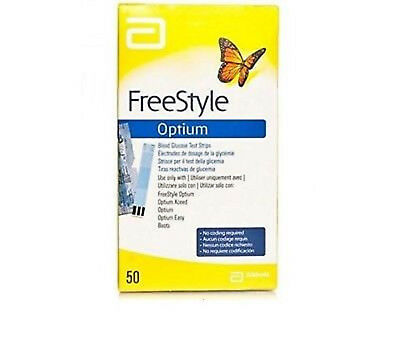 Abbott Freestyle Optium Test Strips Blood Glucose 100 Test strips free shipping
