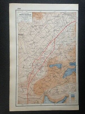 Antique Map ~ Military WESTERN FRONT at NEUVE CHAPELLE WWI ~ Harmsworth 1920