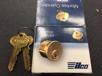 Cylinder lock mortise ILCO brass 1-1/4""
