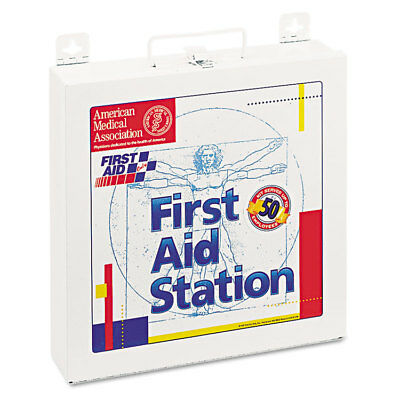 First Aid Station for 50 People, 196-Pieces, OSHA Compliant, Metal Case