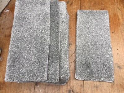 19x8.50inches(48x22cm) soft pile  GREY TWIST  STAIR PADS #1243