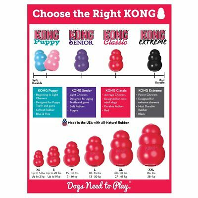 Kong Classic Rubber Extrem Puppy Dog Toy chien jouet all size