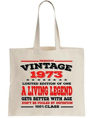 65th Birthday Gift Bag Tote Shopping Limited Edition 1954 Aged To Perfection Mam
