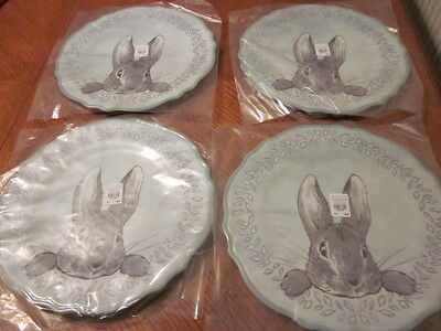 4 Pottery Barn Kids Beatrix Potter Easter Peter Rabbit Charger Plates - NWT NIP