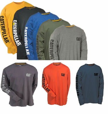Caterpillar T shirt Men CAT Long Sleeve Graphic Logo Tee T- Shirts Cotton Color