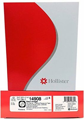 "Hollister New Image Pre-Cut Skin Barrier 2-1/4"" Flange 1-1/2"" Stoma 5/bx 14908"