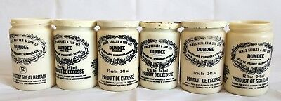 Vintage James Keiller & Sons Dundee Marmalade Jelly Jars Pots Lot of 6 w 4 Lids