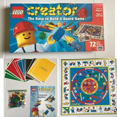 LEGO CREATOR The Race To Build It Board Game 1999 Roseart #03093 NEW ...
