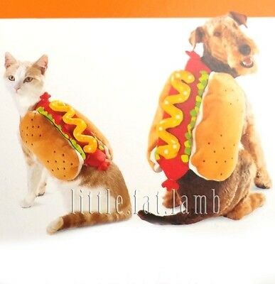 Pet Cat Puppy Dog Hot Dog Halloween Costume w LED Light M Up to 20 - 100 lbs