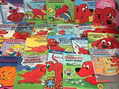 (lot/set) of 10 Clifford the Big Red Dog - childrens books - Randomly Selected