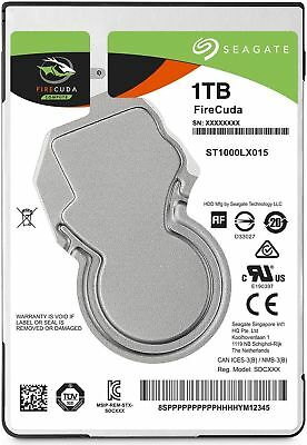 "Seagate FireCuda 1TB 2.5"" SATA Internal Hybrid SSHD 8GB HDD SSD laptop Mac Apple"