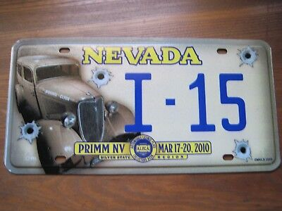 Nevada 2010 Silver state region license plate