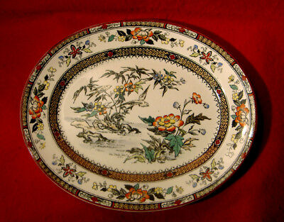 Powell, Bishop & Stonier Xix Century *hong Kong* Oval Serving Platter England