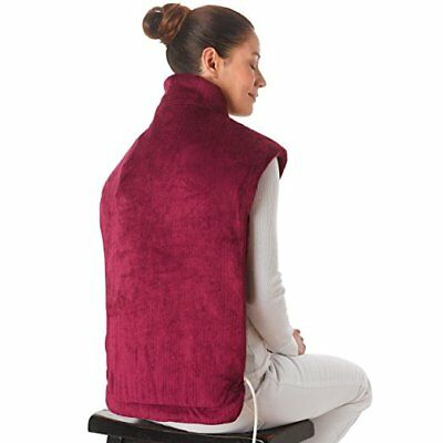 Ontel Thermapulse Relief Wrap Extra, Long Heat Wrap, Burgandy