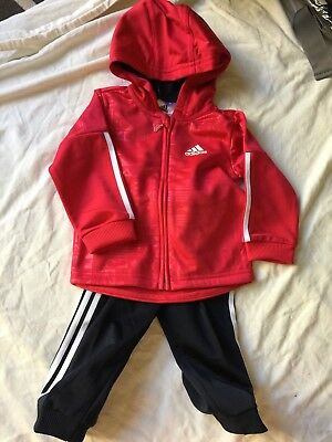 Adidas hot pink and navy ST Shiny FZH tracksuit brand new size 6-9 months