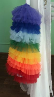 Sottogonna Sottana Sposa Arcobaleno Colorata Tulle Sotto Gonna Underskirt