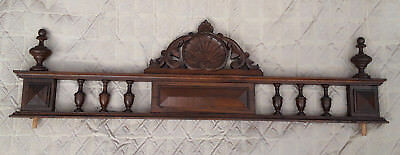 "31.89"" Antique French Pediment Cornice Fronton"