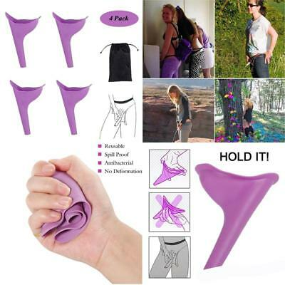 Female Urination Device, Women Lady Portable Urinal Camping  Funnel Toilet, 4Pcs