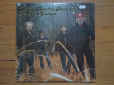 Flying Burrito Brothers-Live from Europe-Still Sealed Lp von 1986-US Pressung