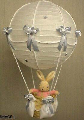 Hot air balloon lamp light shade for baby nursery with lily bob hot air balloon lamp light shade for baby nursery with lily bob peter rabbit aloadofball Images
