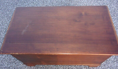 Vintage PA Wood Blanket Chest Hand Made Dove