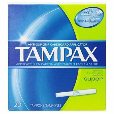 Tampax Super Absorbency Tampons with Flushable Applicator 20 ct