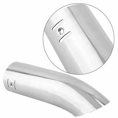 Car Exhaust Tail Pipe Stainless Steel Trim Chrome Bumper Tip Blow Down Curved YO