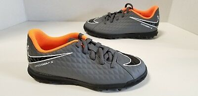 edef306ce21a YOUTH NIKE JR PhantomX Hypervenom 3 Club TF Dark Grey Orange White AH7298  081 -  39.99