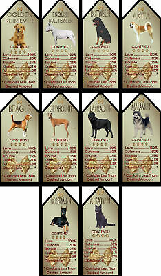 Novelty Dog Signs Gift Tags Various Breeds set2