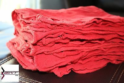 1300 BRAND NEW UNUSED MULTIUSE INDUSTRIAL RED SHOP TOWELS LARGE RAGS 14x15