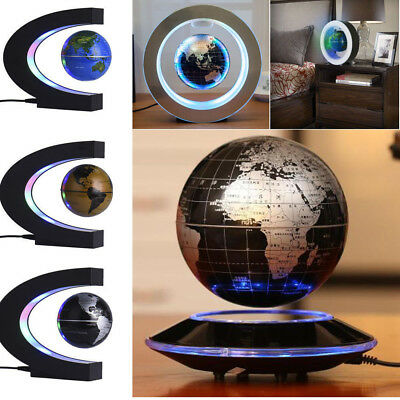 Magnetic Levitation Levitating Floating Globe World Map LED Light Lamp Globe