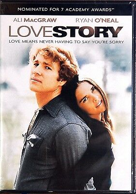 1970 Love Story Ali MacGraw Ryan O'Neal Ray Milland Romance Drama NEW DVD